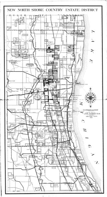 JACO 1929 Map Of Estates In Lake County