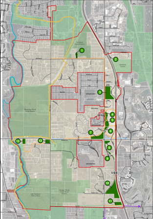 Parks, Trails and Open Space Map